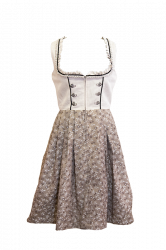 traditionelles Dirndl in beige-braun geblümt